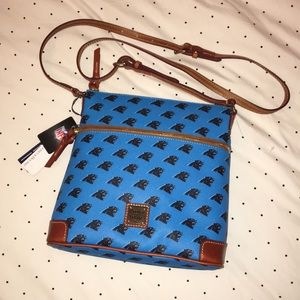 NWT Dooney and Burke Panthers NFL Crossbody